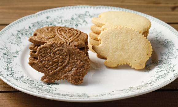 幸福のシンボル「ハリネズミ」を模した、かわいい焼き菓子