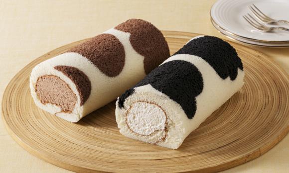 可愛すぎる! 牧場が作った牛柄のロールケーキ