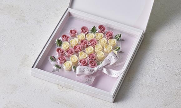 特別なギフトにも♪ チョコレートで作った可憐な花束