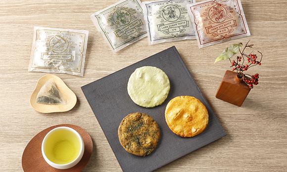 <埼玉県> 「お茶で一服」をこれ1つで叶える。煎餅と狭山茶のセット
