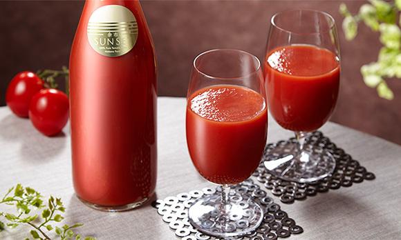 まるでフルーツのような甘さ。糖度9度以上の完熟トマトジュース