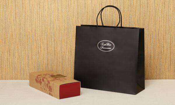 秋田県産ラズベリーのカステラの紙袋画像