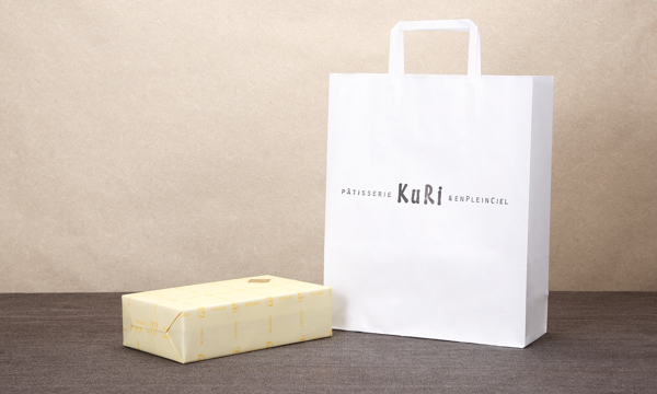 栗ケーキの紙袋画像