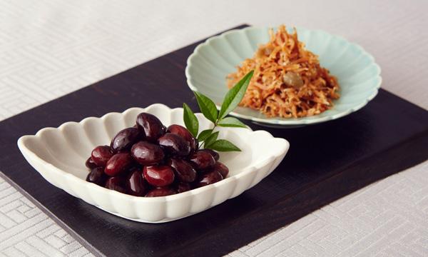 「料理屋の瓶詰」 佳味(カミ)2本入り 黒豆・梅ちりめんの内容画像