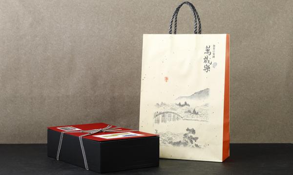 能登の仔すっぽん 絆酒(1年モノ、2・3年モノ) 720ml×2本セット 進物箱入の紙袋画像