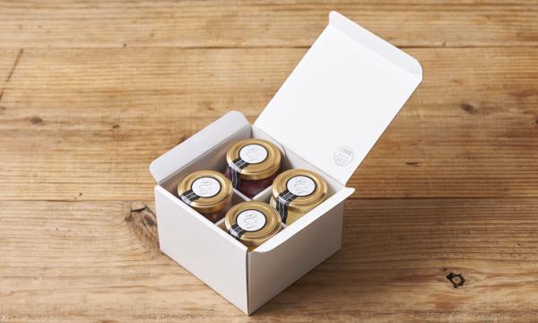 瓶詰めフルーツチーズケーキセットの箱画像