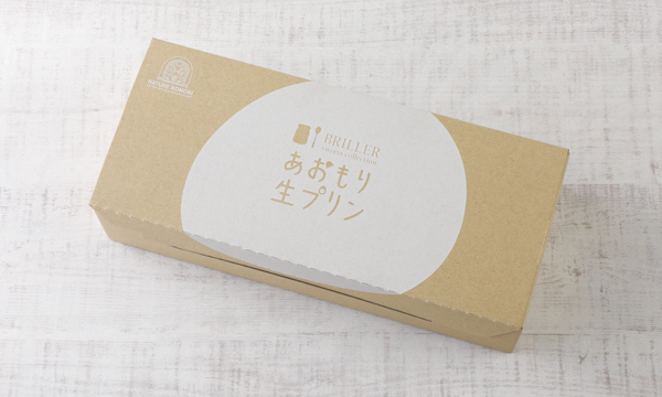 あおもり生プリン(塩カラメル)の包装画像