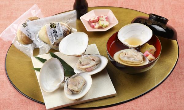 九十九里浜蛤酒蒸しお吸物セットの内容画像