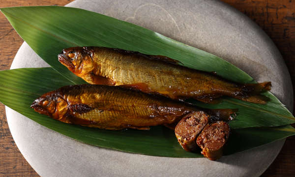 おりーぶ鮎の甘露煮・子持ち鮎の甘露煮食べ比べセットの内容画像