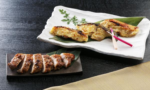 日本料理の逸店「割烹 とんぼ」 メープル西京焼き<漬魚(銀鱈・金目鯛・銀鰈)・豚肉(米沢豚)>の内容画像