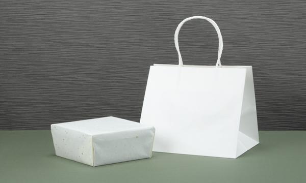 山森農園の梅干し500g【木箱】の紙袋画像