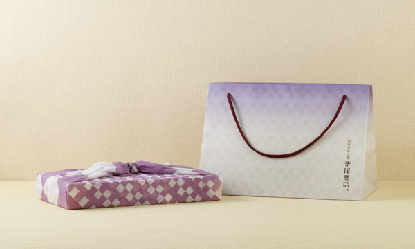 角・渦・滴(風呂敷包み詰合せ)の紙袋画像