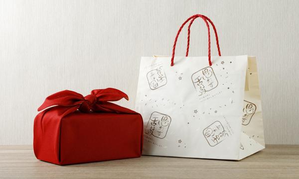 高級ふりかけ「口どけ」30g×2缶セット 桐箱・風呂敷包みの紙袋画像