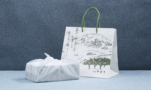 鮎甘露煮と山椒ちりめんの紙袋画像