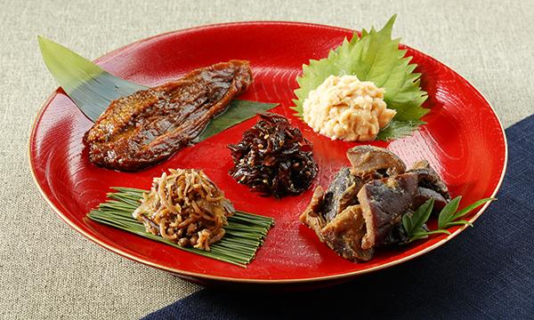 高級懐石の味、自家製佃煮5種詰合せの内容画像