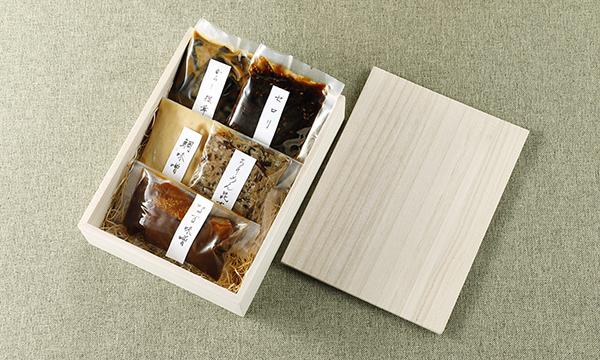 高級懐石の味、自家製佃煮5種詰合せの箱画像