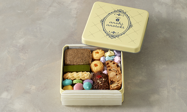 アノヒアノトキ オリジナルクッキー缶 8種入りの箱画像
