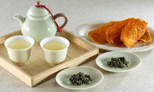 高級高山茶と無添加ドライアップルマンゴーの詰め合わせ