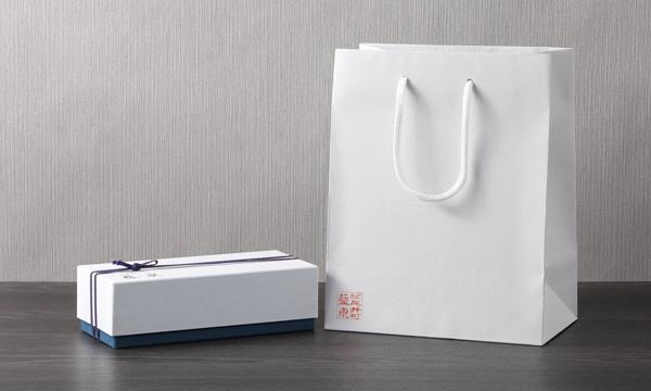 『紀尾井町 藍泉 ≪花浅葱(はなあさぎ)≫ お茶漬けとふりかけ 詰合せ』の紙袋画像