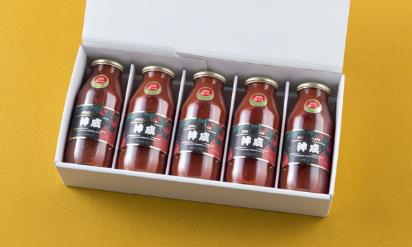 神成本舗 プレミアムトマトジュースの箱画像