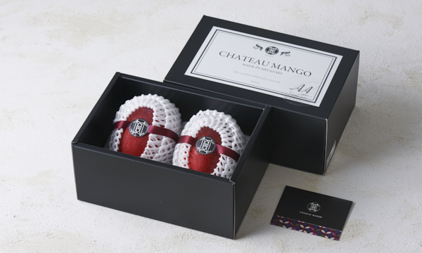 シャトーマンゴー 贈答用 2Lサイズ 2個入りの箱画像
