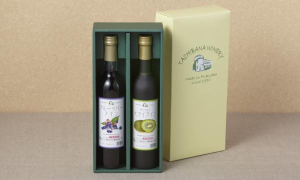 ブルーベリーワイン&キウイワイン 2本箱入りの箱画像