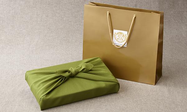 金の番茶詰め合わせの紙袋画像