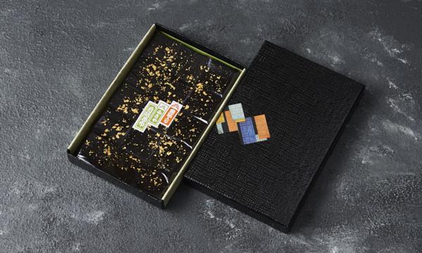金箔入色紙昆布 化粧箱Lの箱画像