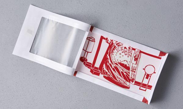 京友禅手染め絹のタブレット PC拭き「okkiiおふき」の箱画像