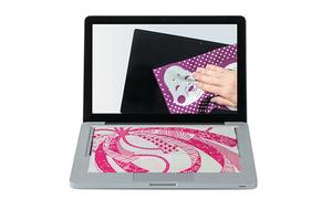 京友禅手染め絹のタブレット PC拭き「okkiiおふき」