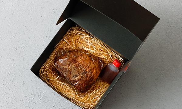 銀座WORLDDINERの黒毛和牛A5ランク極上ローストビーフの箱画像