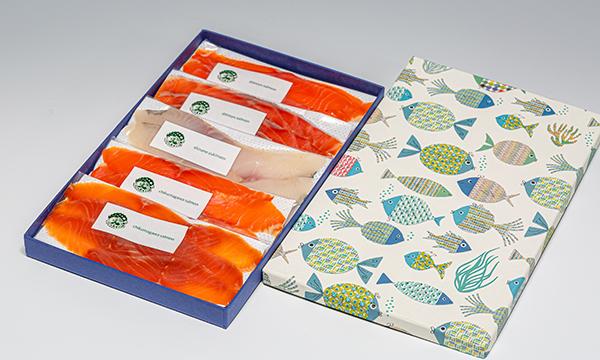 信州産 燻製と昆布〆のセットの箱画像
