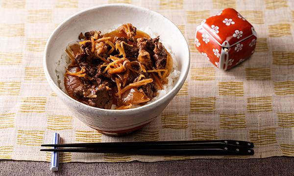 京のこだわり牛丼の内容画像