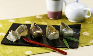 牧ノ原オリジナルお茶葛餅