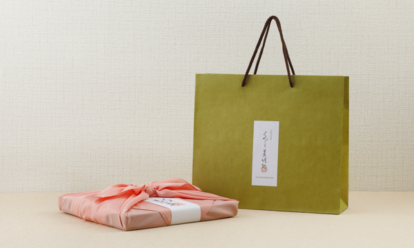 いろはに美味すずめ くらしき御菓子箱 四季づつみの紙袋画像