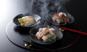 燻製詰め合わせ(梅山豚・山形尾花沢和牛・鮑)