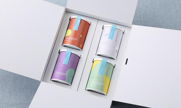 こたね4缶セット(和三盆豆、抹茶ミルク豆、ゆずこしょう豆、こんぶ豆)の箱画像
