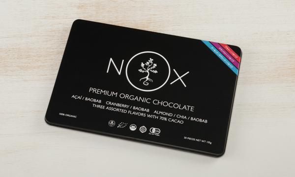 NOXプレミアムオーガニックチョコレート  Mixed Editionの包装画像