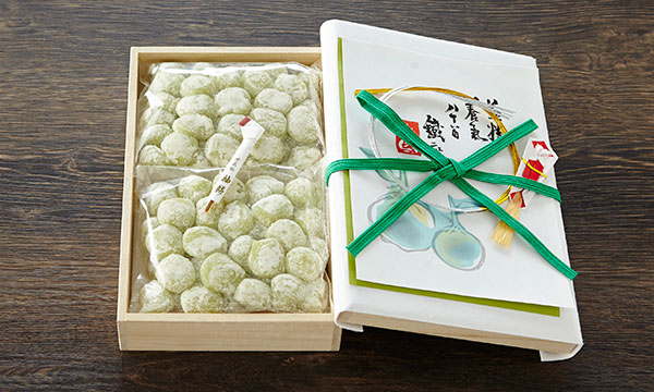柚餅 <桐箱入>の箱画像
