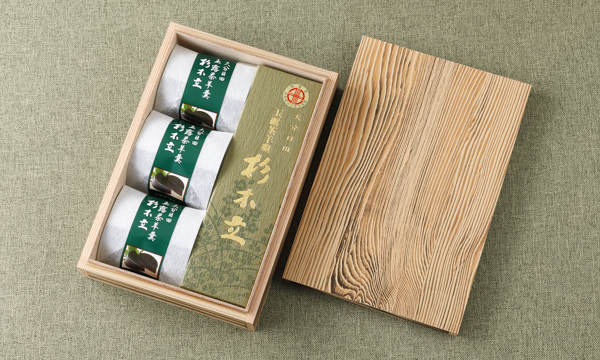 玉露茶羊羹杉木立の箱画像