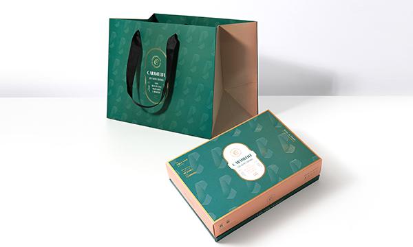 5色のグラデーションキャラメル バター Sサイズの紙袋画像