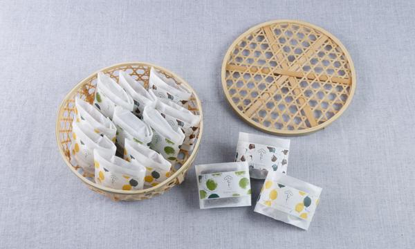 竹かご入 果子ケーキ13個詰合せの箱画像