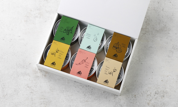 贅沢ツナ缶 6種×1缶セットの箱画像
