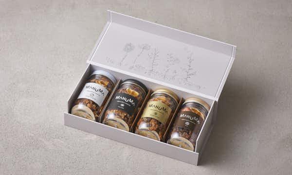 マヌマグラノナッツ(100g×4種セット)の箱画像