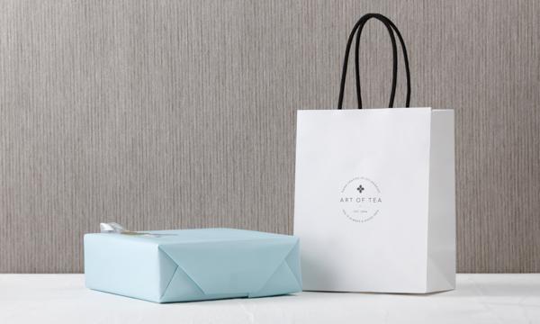 アートオブティー有機紅茶セット2本入りの紙袋画像