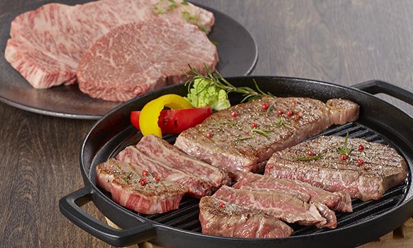 なかにしプレミアスペシャル和牛 サーロインステーキ ランプステーキの内容画像