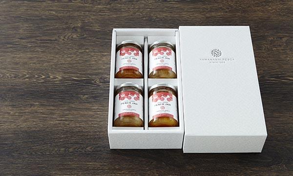 ピーチジャム 4本セットの包装画像