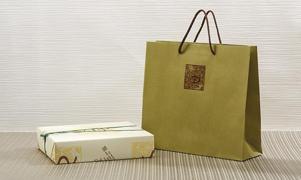 越後彩菓 ル・レクチェと妙高の赤茄子ギフトセットの紙袋画像