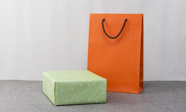 京都むく屋の柿酢の紙袋画像